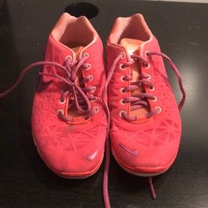 Shoes - Pink nike free tri-fit 3